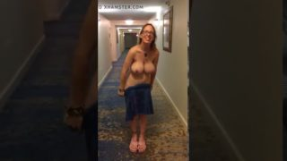 Housewife Strips Naked In Hotel Hallway. Tits @ 0:07