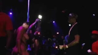 Topless Striper on Stage W/ Meek Mill